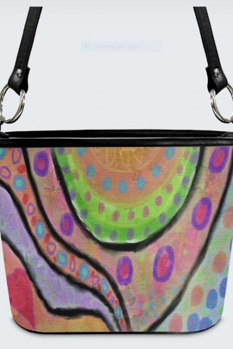 Original Abstract Art Shoulder Bag