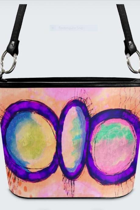 Colorful Abstract Art Shoulder Bag Handbag Purse
