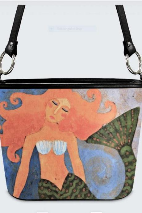 Beautiful Abstract Art Mermaid Handbag Shoulder Bag Purse