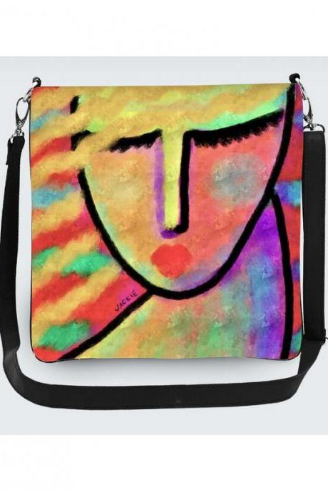 Funky Abstract Art Crossbody Handbag Purse Shoulder Bag Messenger Bag