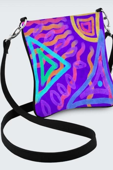 Colorful Abstract Art Shoulder Bag Handbag Purse Messenger Bag Cross Body Purse